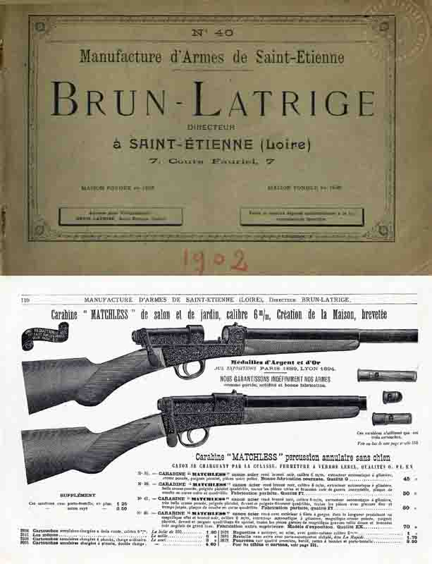 Brun Latrige (Paris-Liege) 1902 Gun Catalog