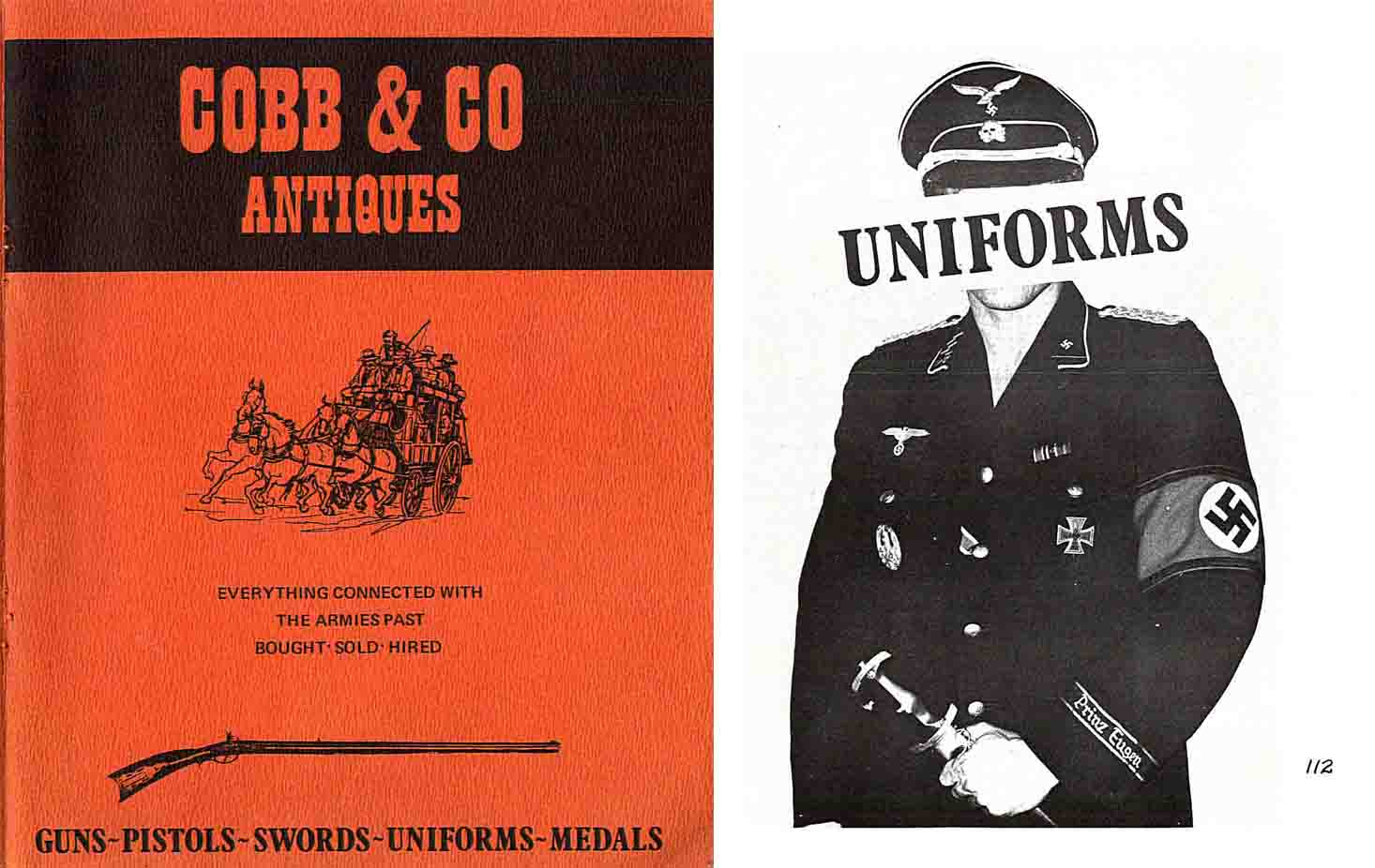 Cobb & Co. c1970 Antique Gun Catalog - Australia