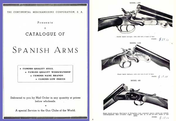 Continental Merchandising (Madrid) 1960 Gun Catalog