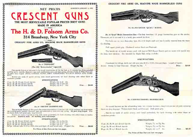 HD Folsom's Crescent Arms 1927 Catalog