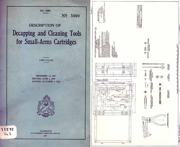 Decapping and Cleaning Tools for Small Arms 1907- 1917ed