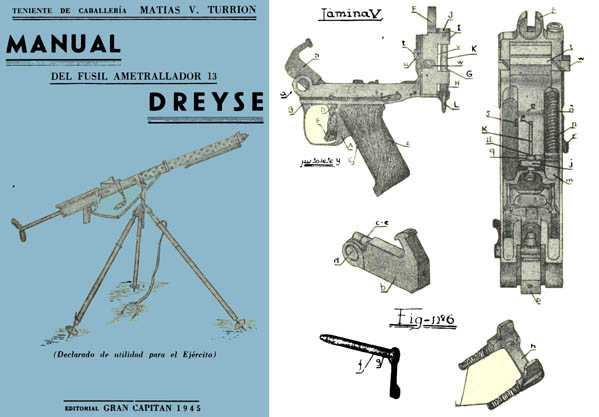 Dreyse 13 Handbook- Machine Gun for the Army (in Spanish)