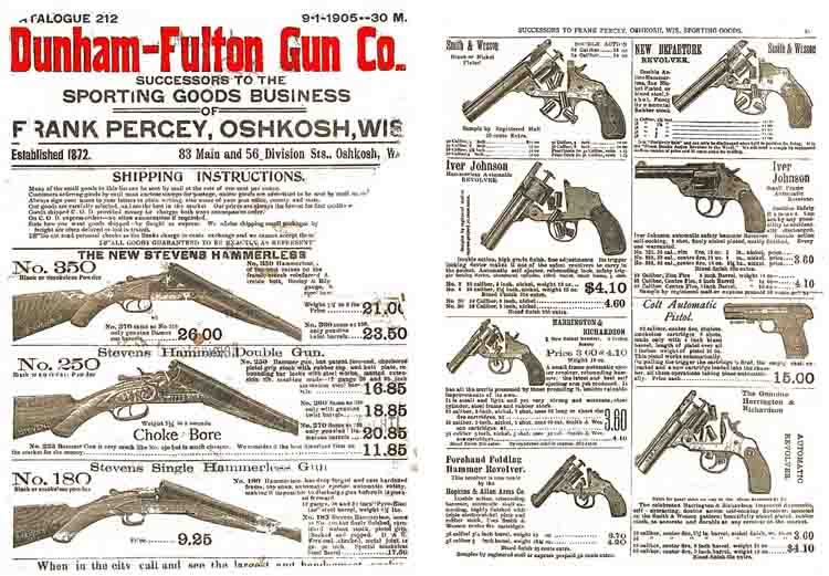 Dunham-Fulton Gun Co. 1905 Catalog, Oshkosh, WI