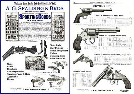 Spalding Journal c1889 Guns & Accessories Catalog (NY and Chicago)