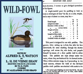 Wild-Fowl 1905 edited by Alfred T. Watson