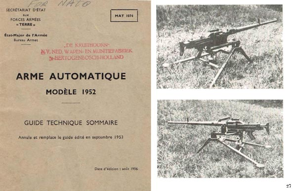 Arme Automatique M1952 SMG AA52 Manual (French)