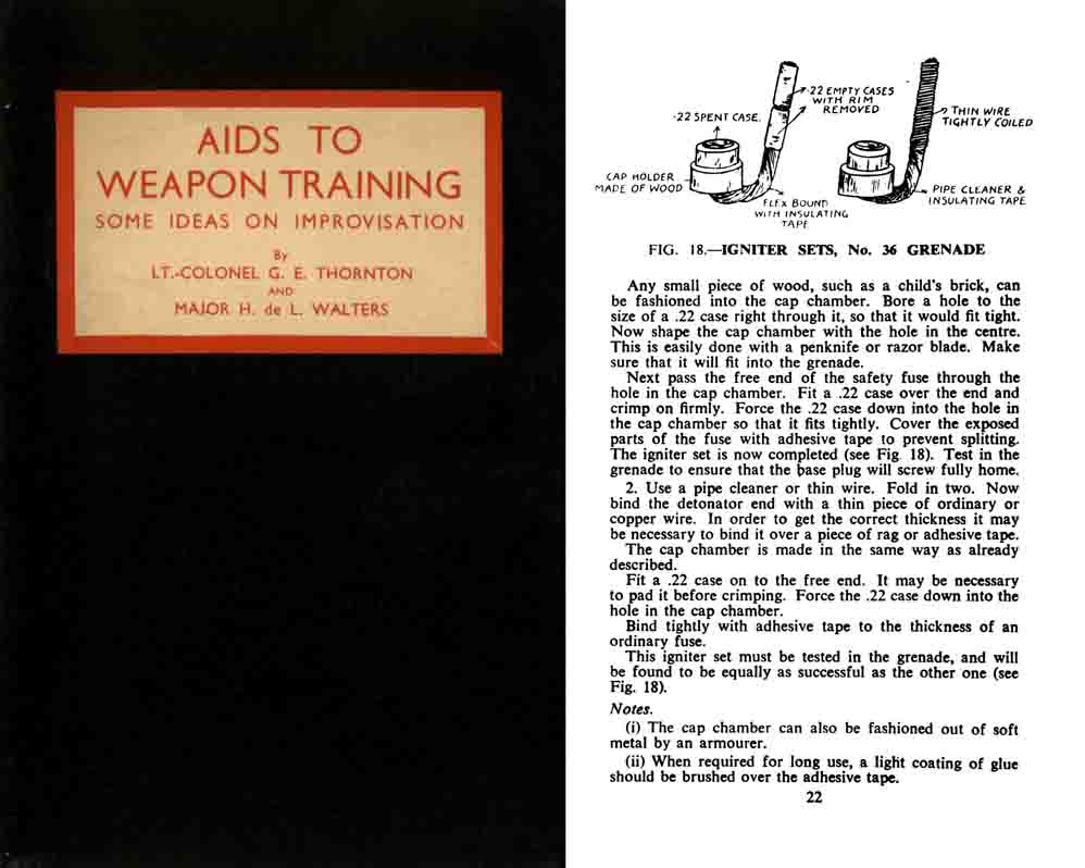 Aids to Weapons Training 1944 Some Ideas on Improvisation