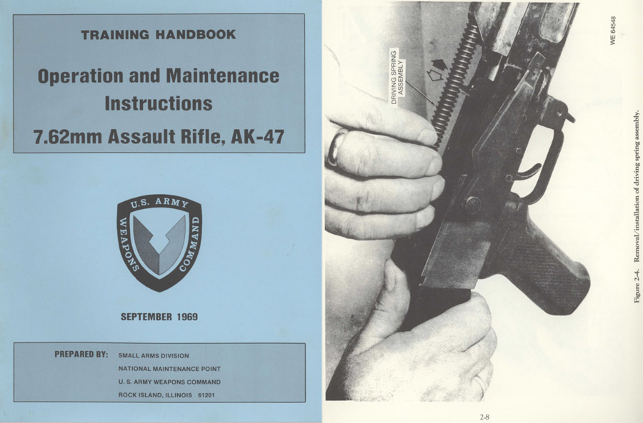 AK-47 - U.S. Army 1969 Training Handbook- Operations and Maint. Manual