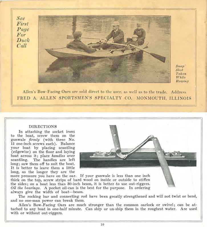 Fred Allen c1920 Sportsmen's (Bird Calls) Catalog-Monmouth, Illinois