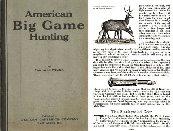 Western Cartridge Co. - American Big Game Hunting - 1925
