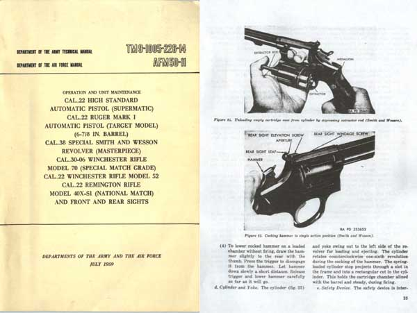 Army Training Manual-1959 Various Civilian Weapons