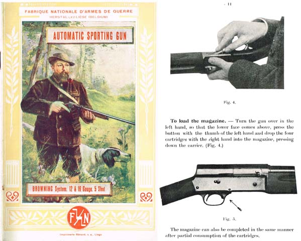 Browning 1931 (circa) FN Auto 5 Manual