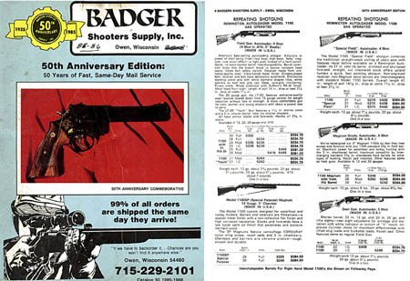 Badger Shooter's Supply, Inc 1985-86 Catalog- Owen WI