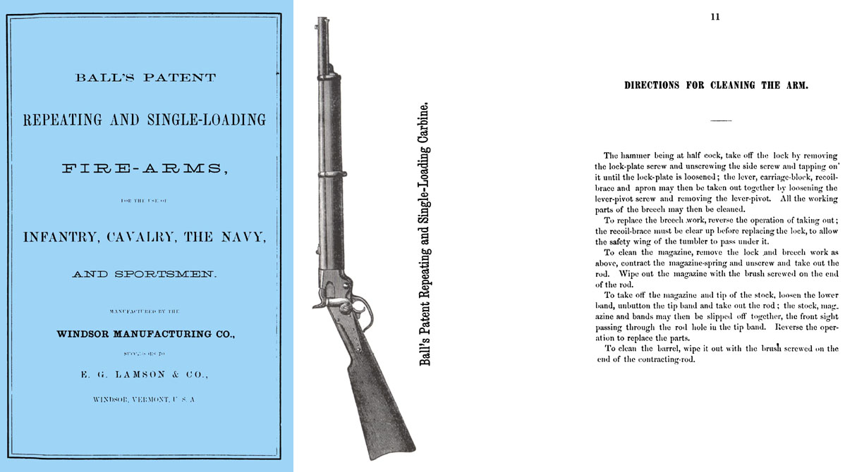 Ball's Patent 1866 Repeating & Self-Loading Fire-Arms, Windsor Mfg. Catalog