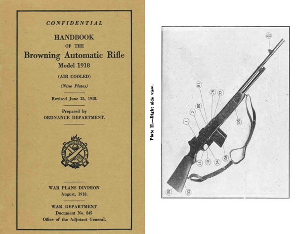 Browning 1918 BAR Automatic Rifle Handbook (Revised)- Manual