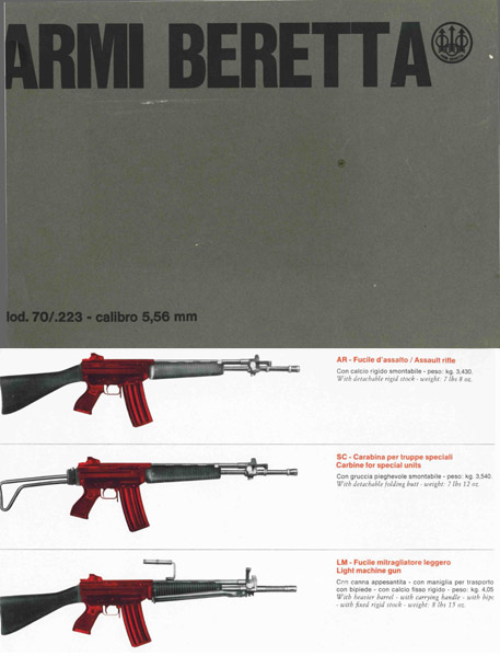 Beretta AR70 Assault Rifle AR, SC, LMG Brochure
