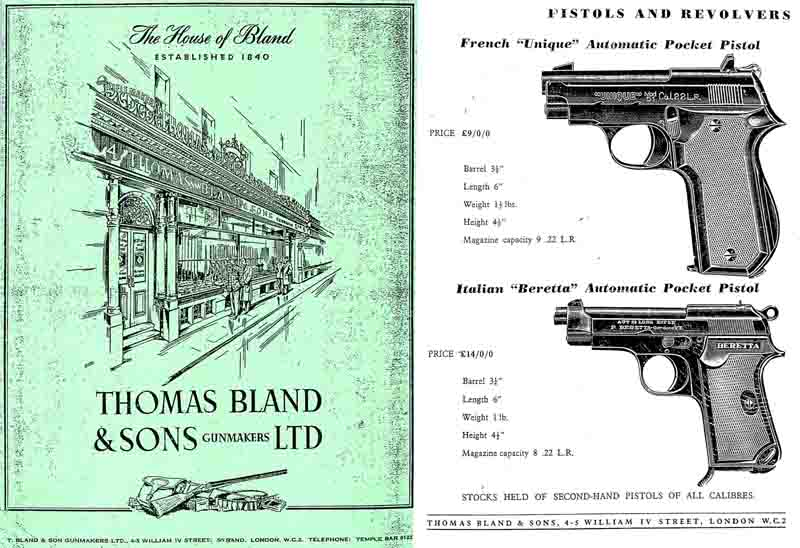 Thomas Bland & Sons c. 1965 Gun Catalog (London)