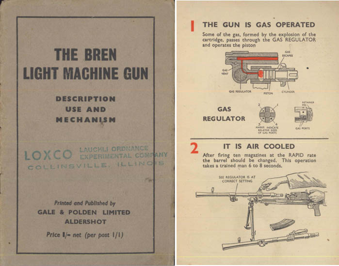 Bren 1940 circa Light Machine Gun Description, Manual & Mechanism (UK)
