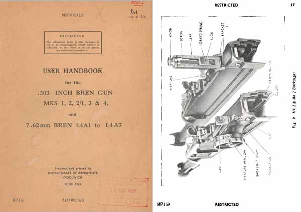 Bren 1969 .303 MKS 1,2,2/1,3 &4; 7.62 L4A1 to L4A7 (all models) Handbook (UK) -Manual