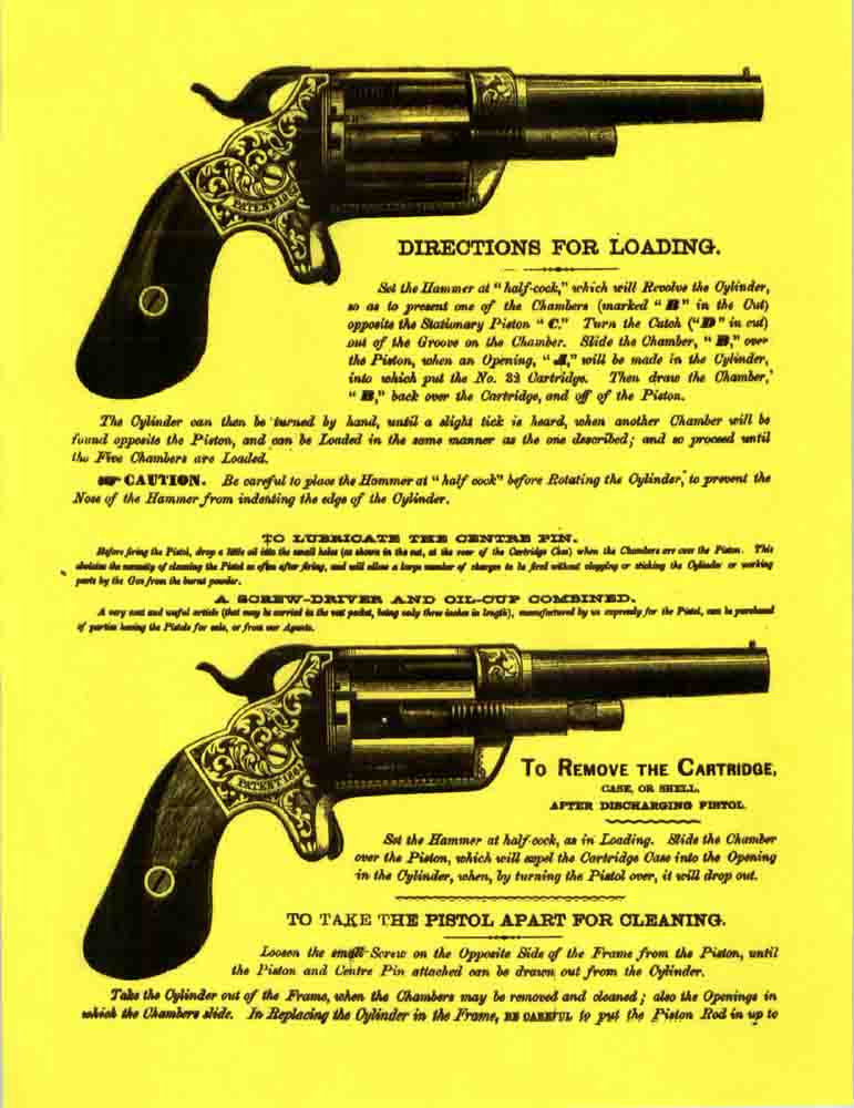 Brooklyn Arms- Slocum Patent Revolver- c1863 Manual
