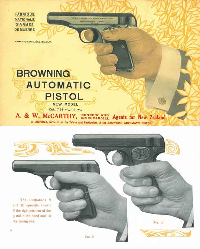 Browning 1912 FN Automatic Pistol New Model Manual Catalog