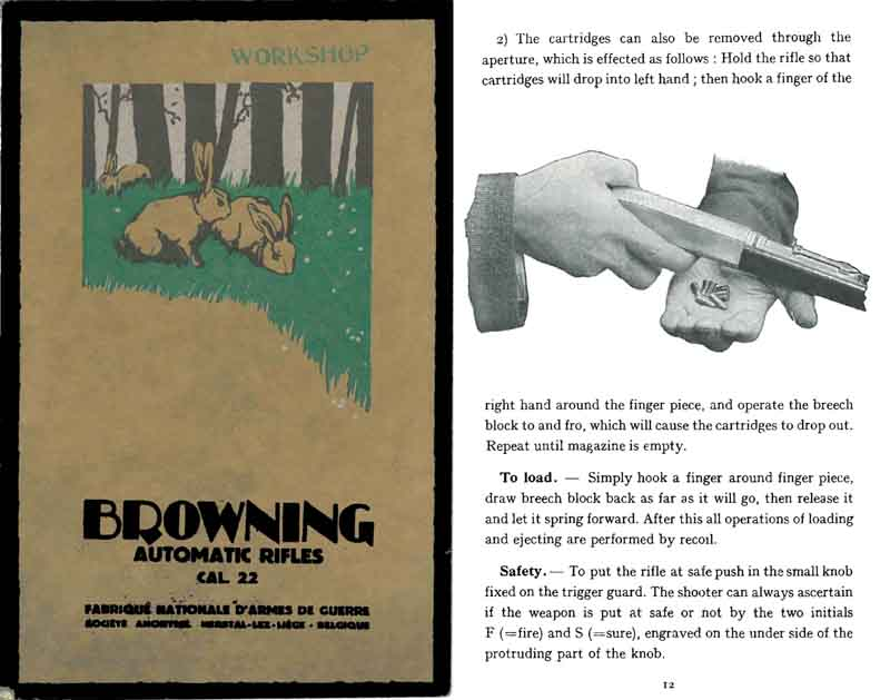 Browning 1936 FN Automatic .22 Caliber Rifles Manual