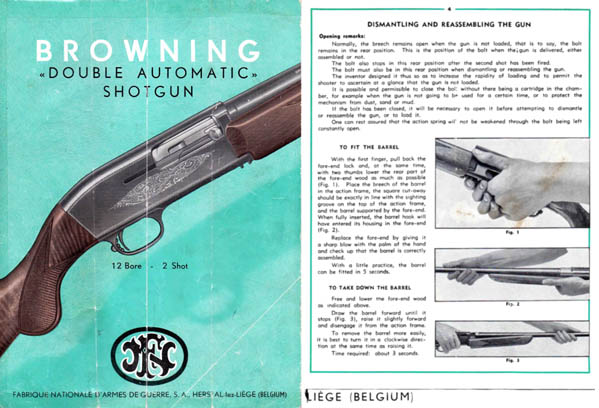 Browning 1955 (circa) Automatic Double Manual