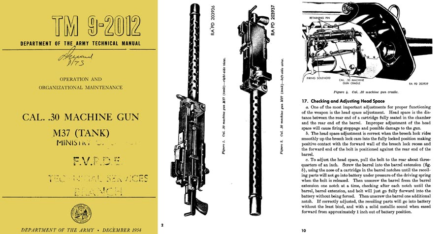 Browning 1954 M37 Tank MG Maint Manual TM 9-2012