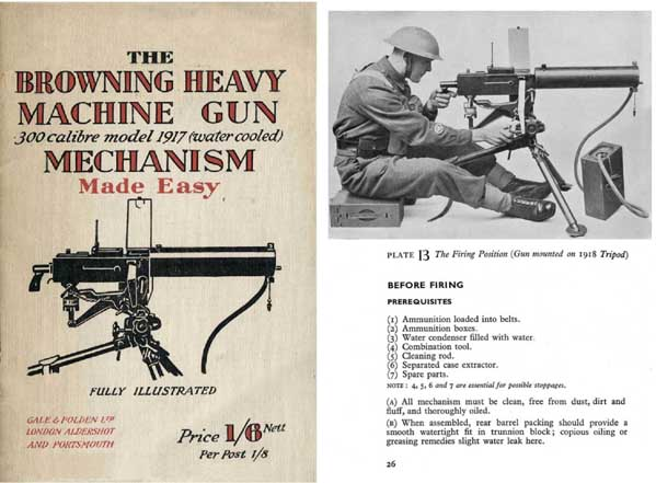 Browning 1942 M1917 HMG .300 cal Mech Made Easy- Manual