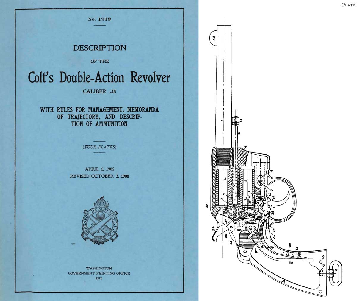 Colt 1912 Double-Action Revolver .38- GPO Description of- Manual