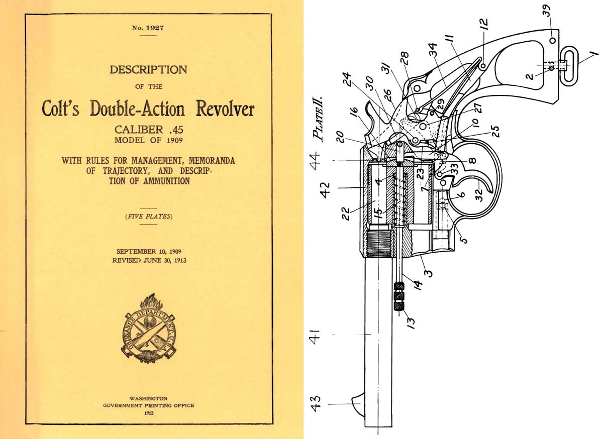 Colt 1913 Double-Action Revolver .45- GPO Description of- Manual