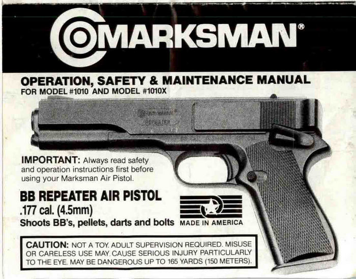 Marksman M1010 & M1010X Owner's Manual