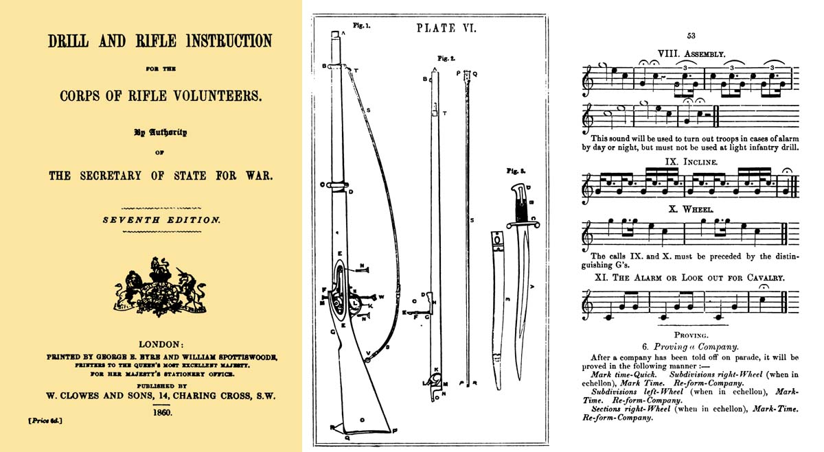 Drill and Rifle Instruction 1860 - Corps of Rifle Volunteers (UK)