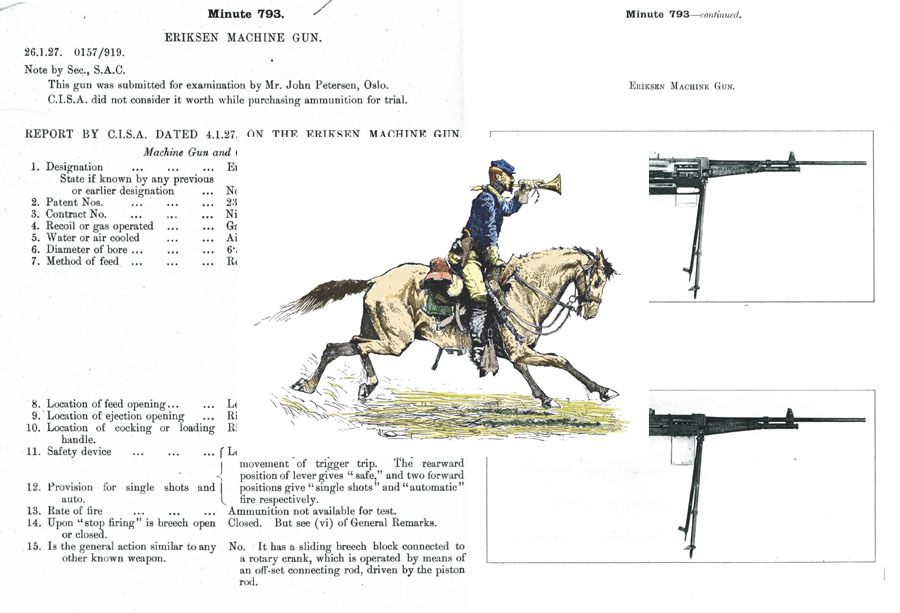 Eriksen 1927 Machine Gun (Norway) Evaluation Notes (UK)