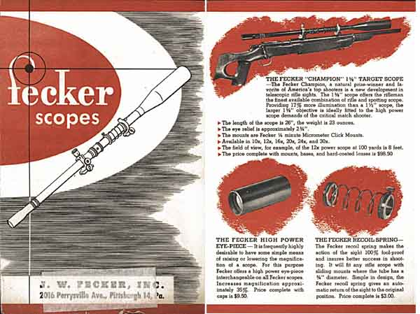 Fecker c1955 Rifle Telescopes