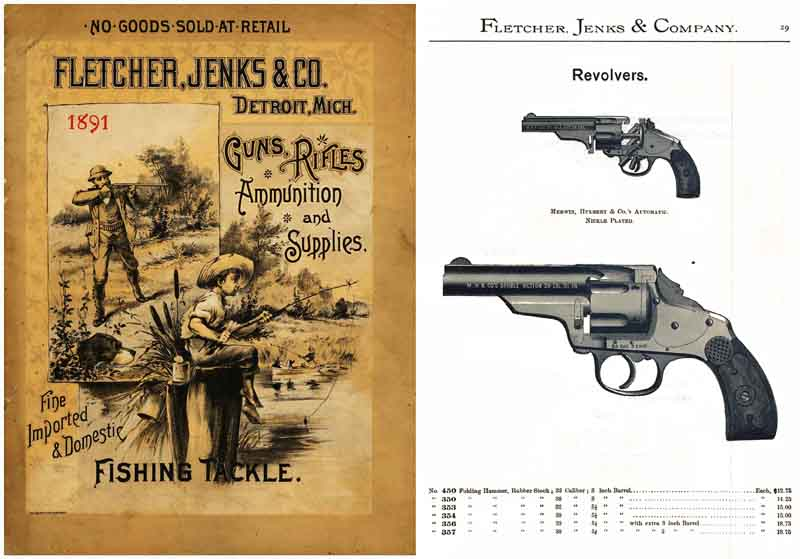 Fletcher, Jenks & Co. 1891 Guns & Sports, Detroit, MI