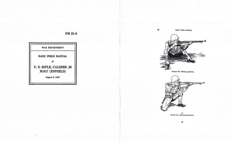 FM 23-6 1942 U.S. Rifle, Cal .30 M1917 (Lee Rifle) Basic Field Manual