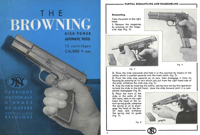 Browning High Power c1965 FN Pistols Manual