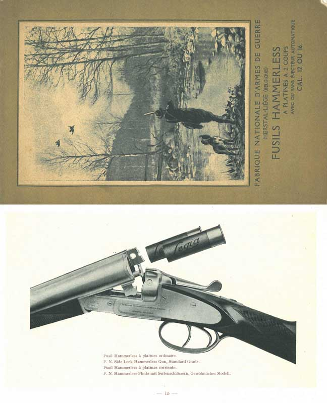 Browning 1930 (circa) Fabrique Nationale (FN) Shotgun Catalog
