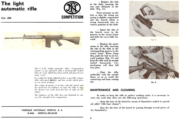 FN c1969 LAR (Light Automatic Rifle) cal .308 Manual