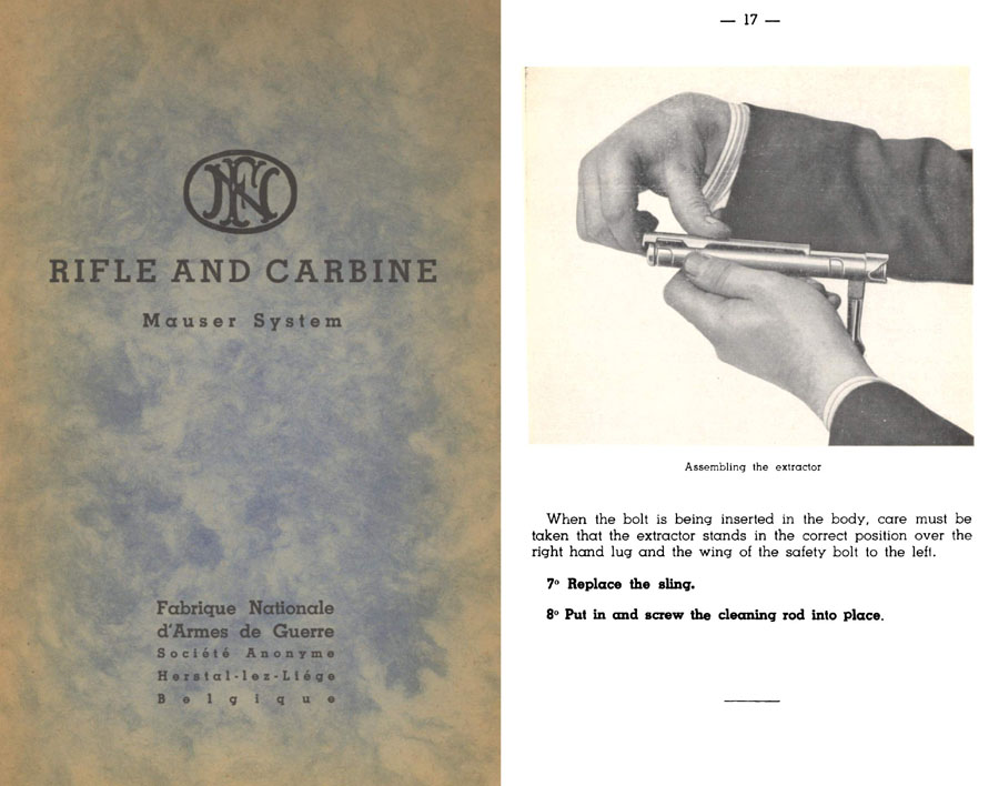 FN c1930s Rifle & Carbine- Mauser System Manual