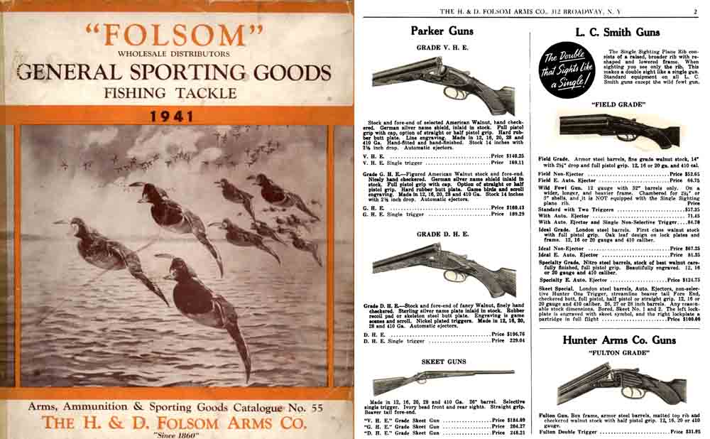 Folsom 1941 Arms, Ammo and Sport Goods No. 50 Catalog
