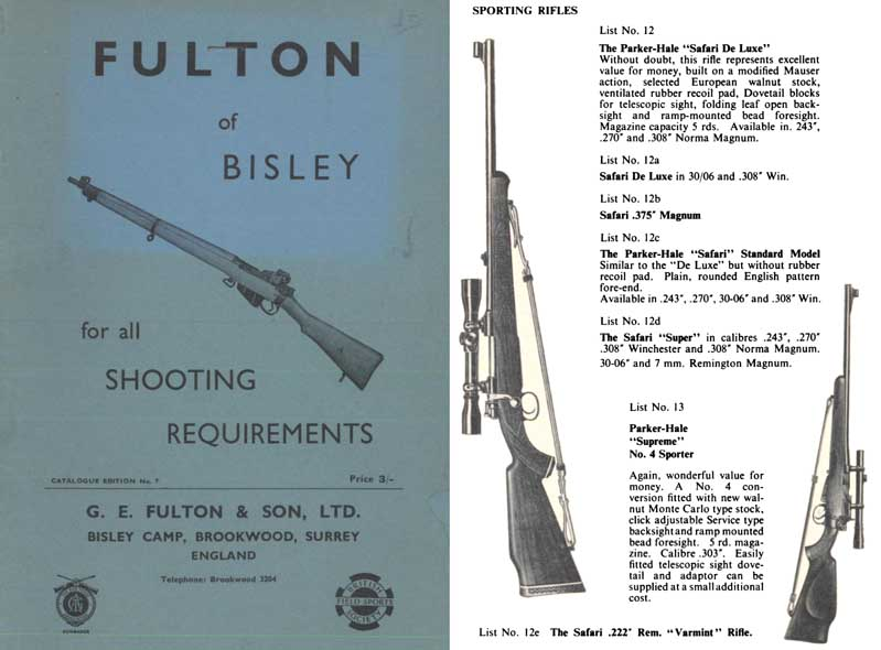 Fulton of Bisley c1965 Guns & Accessories Catalog (UK)