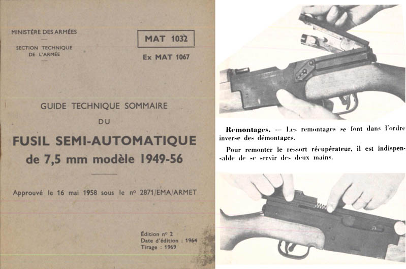 Fusil Semi-Automatique 1964 de 7.5mm M1949-56- French- Manual