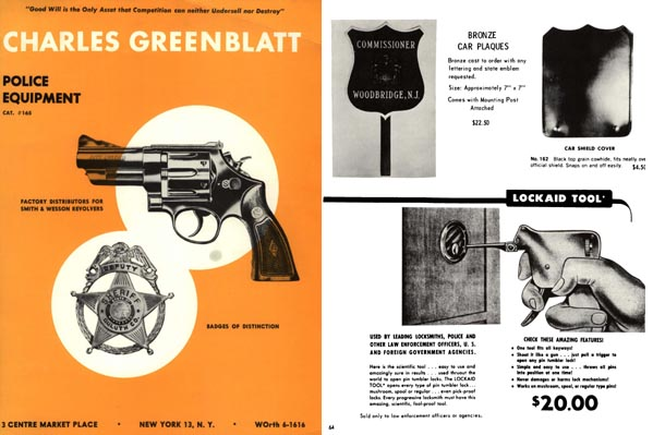 Charles Greenblatt 1965 Police Equipment Catalog