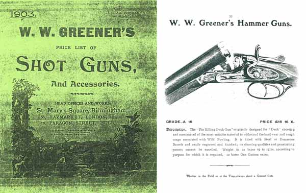 WW Greener 1903 Shot Guns