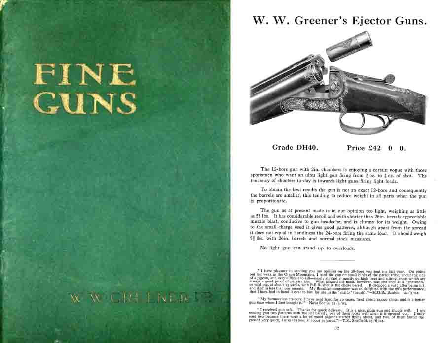 WW Greener 1924 Sporting Guns Catalog (England)