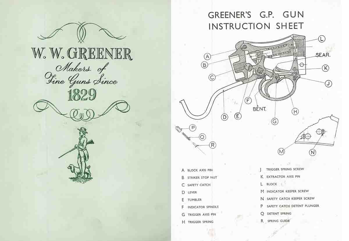 WW Greener 1961 Catalog (England)