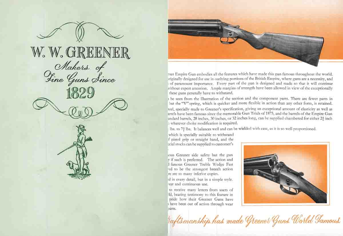 WW Greener 1964 Catalog (England)