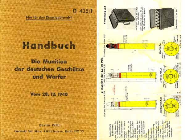 Handbook of German Military Ammunition 1940 (in German)